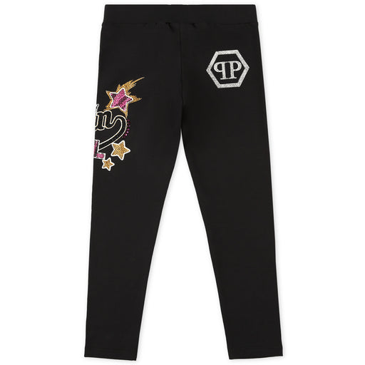 Philipp Plein Girls Black Jogging Leggings Statement - Kids clothes online | BOYS & GIRLS ONLINE