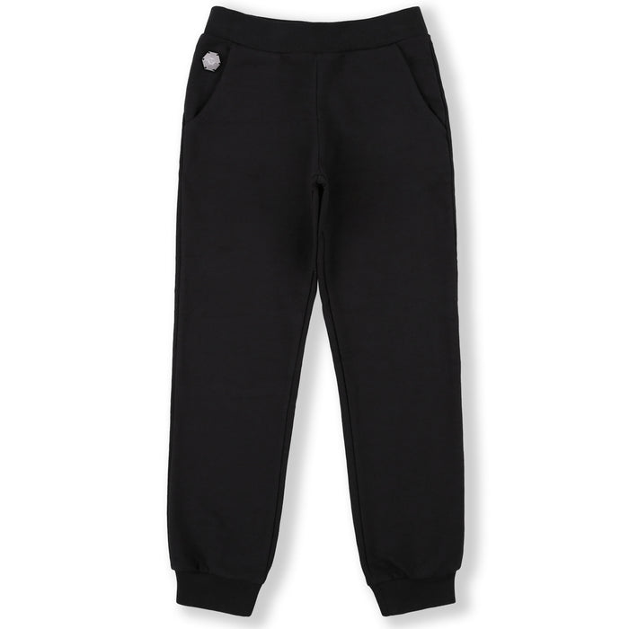Philipp Plein-Girls Black Jogging Trousers P.L.N.-boysgirlsonline.com