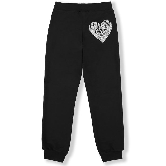 Philipp Plein - Girls Black Jogging Trousers P.L.N. - Kids clothing at BOYS & GIRLS ONLINE