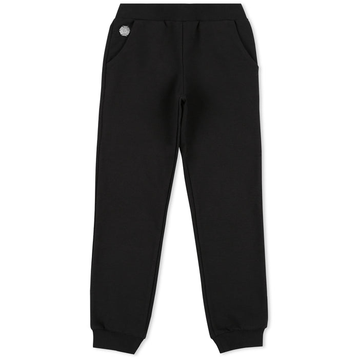 Philipp Plein - Girls Black Jogging Trousers Plein Addict - Kids clothing at BOYS & GIRLS ONLINE