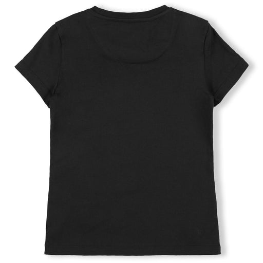 Girls Black T-shirt Round Neck SS P.L.N.