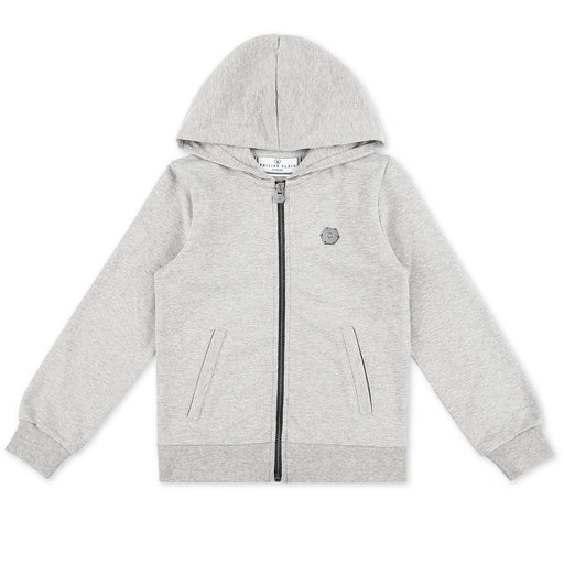 Philipp Plein Girls Grey Hoodie Sweatjacket P.L.N. - Kids clothes online | BOYS & GIRLS ONLINE