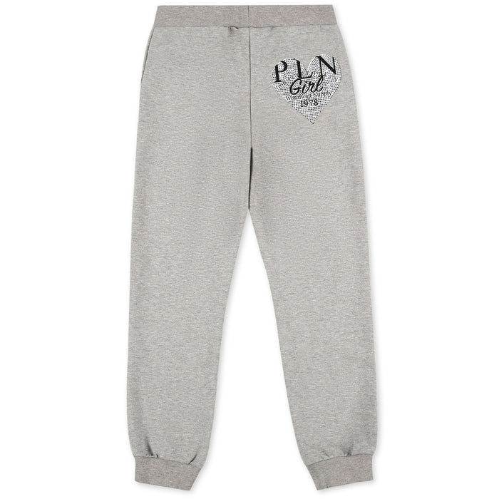 Philipp Plein Girls Grey Jogging Trousers P.L.N. - Kids clothes online | BOYS & GIRLS ONLINE