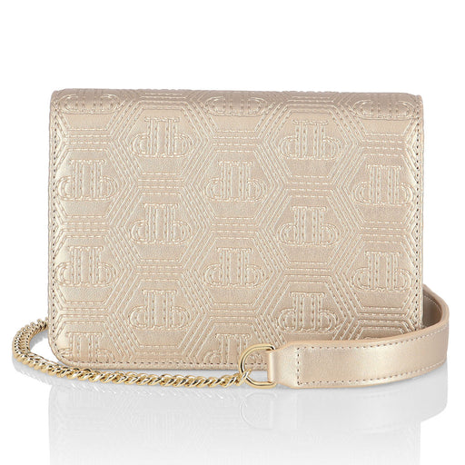 Gold Flap Bag Mini Shoulder All over PP
