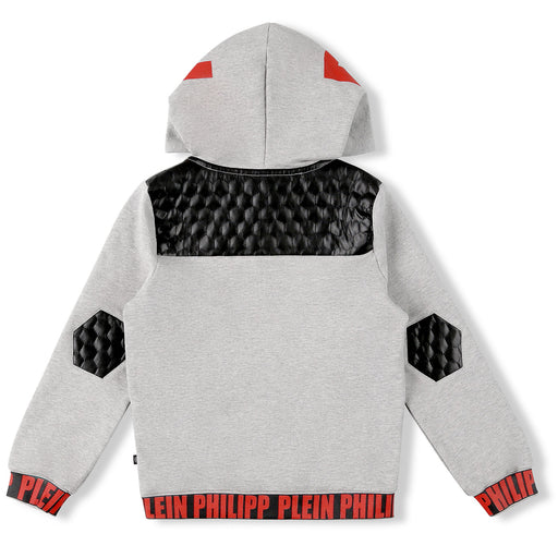 Philipp Plein Grey Hoodie Sweatjacket Statement - Kids clothes online | BOYS & GIRLS ONLINE