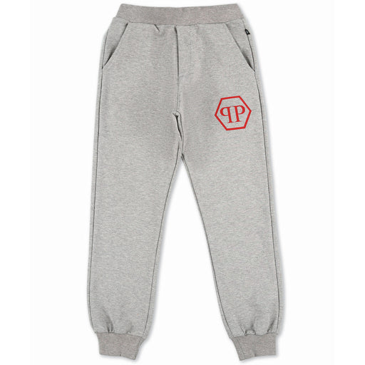 Philipp Plein Grey Jogging Trousers P.L.N. - Kids clothes online | BOYS & GIRLS ONLINE
