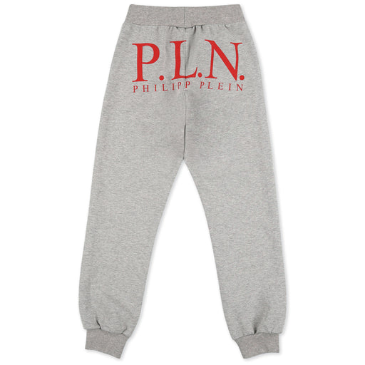 Philipp Plein - Grey Jogging Trousers P.L.N. - Kids clothing at BOYS & GIRLS ONLINE