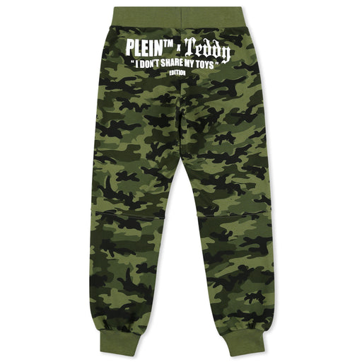 Boys Camouflage Jogging Trousers Teddy Bear