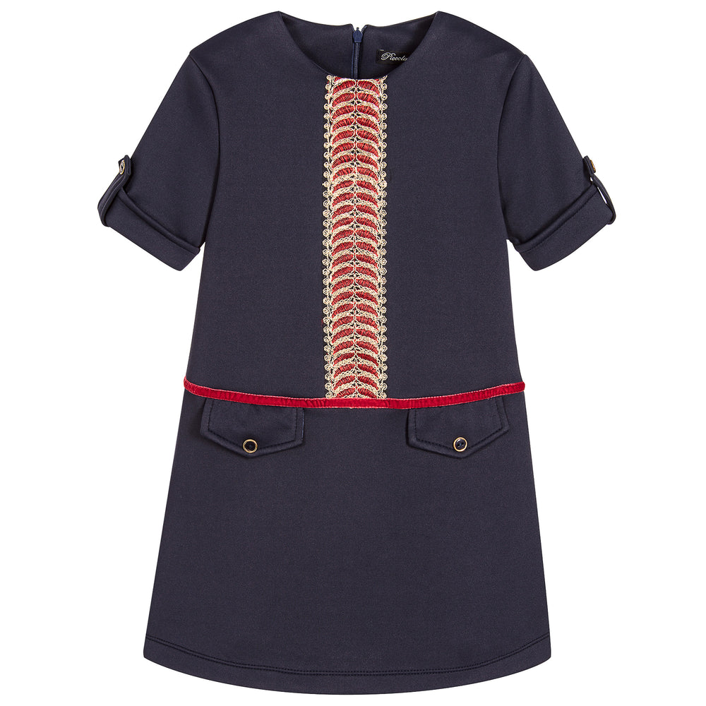 Piccola Speranza Girls Blue Jersey Dress at BOYS & GIRLS ONLINE