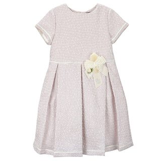 Girls Pink Dress with a Bow
