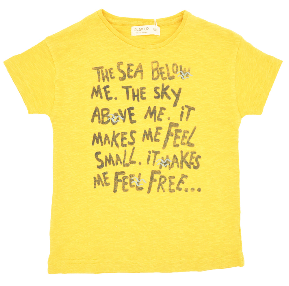 Flame Yellow Cotton T-Shirt