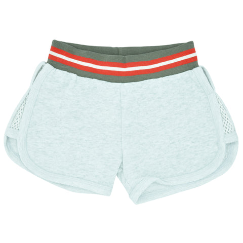 Girls Grey Fleece Shorts