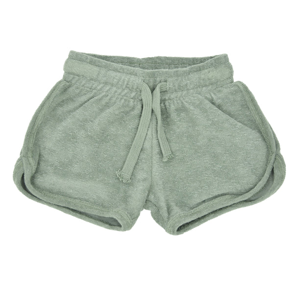 Girls Grey Terry Shorts