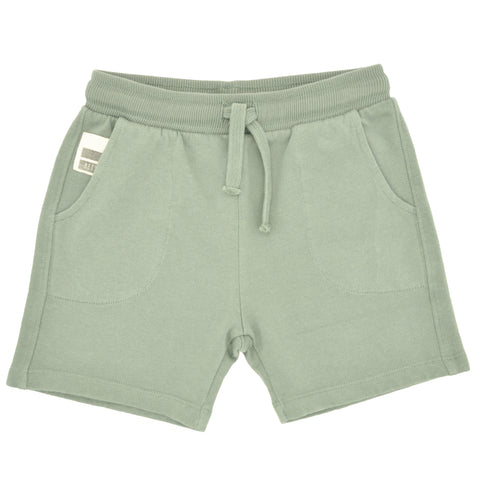 Kaki Fleece Organic Shorts
