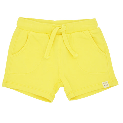 PLAY UP Yellow Fleece Shorts for Baby Girls 1AC10907
