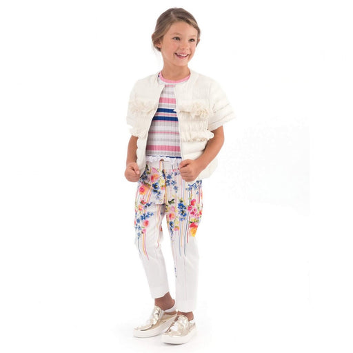 Simonetta Girls Floral Print Trousers - Kids clothes online | BOYS & GIRLS ONLINE