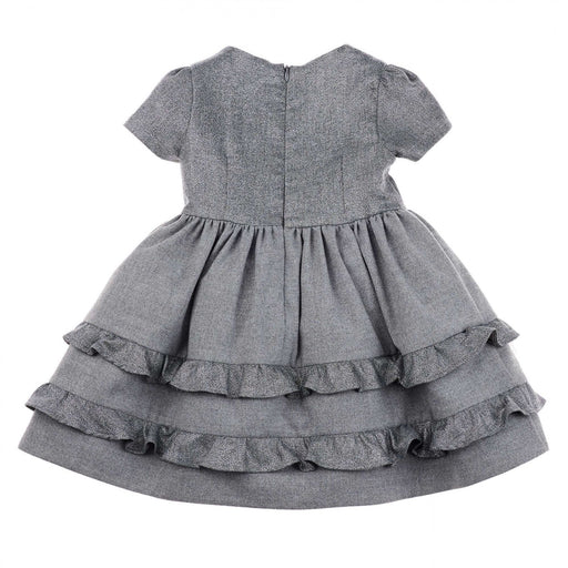Simonetta - Girls Grey Glitter Flared Princess Dress - Kids clothing at BOYS & GIRLS ONLINE