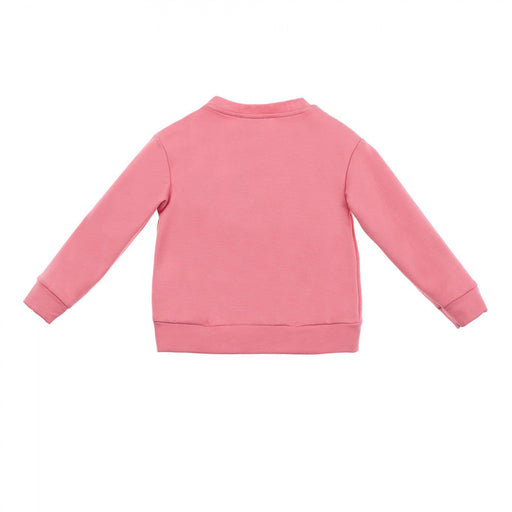 Simonetta Girls Pink Cotton Cloud Print Sweatshirt - Kids clothes online | BOYS & GIRLS ONLINE