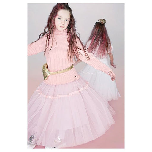 Simonetta Girls Pink Tulle Midi Skirt - Kids clothes online | BOYS & GIRLS ONLINE
