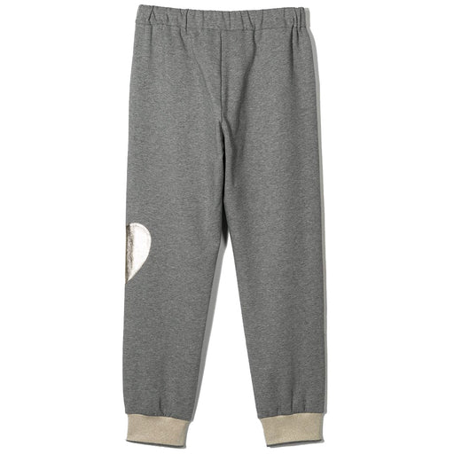 Simonetta - Grey and Platinum Heart Details Joggers - Kids clothing at BOYS & GIRLS ONLINE
