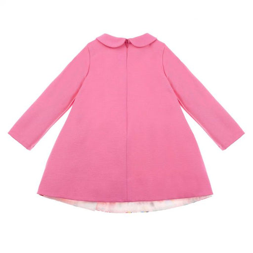 Simonetta Pink Trapeze Dress in Printed Velvet - Kids clothes online | BOYS & GIRLS ONLINE