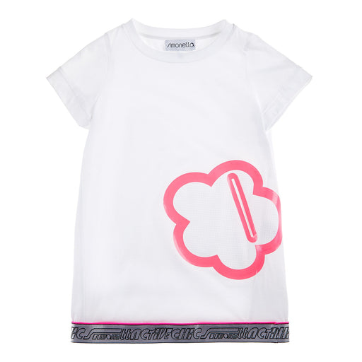 Simonetta White Active Chic Dress - Kids clothes online | BOYS & GIRLS ONLINE