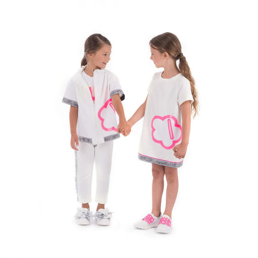 Simonetta - White Active Chic Dress - Kids clothing at BOYS & GIRLS ONLINE