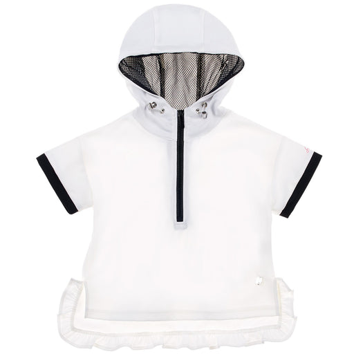 White Active Chic Hooded Sweatshirt