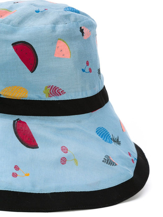 Sonia Rykiel Girls Blue Fruit Print Sun Hat at BOYS & GIRLS ONLINE