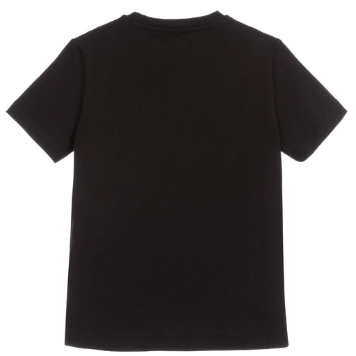 Versace Black Cotton Medusa Studs T-Shirt - Kids clothes online | BOYS & GIRLS ONLINE