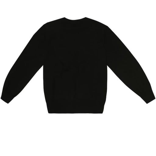Boys Black Cotton Logo Sweatshirt