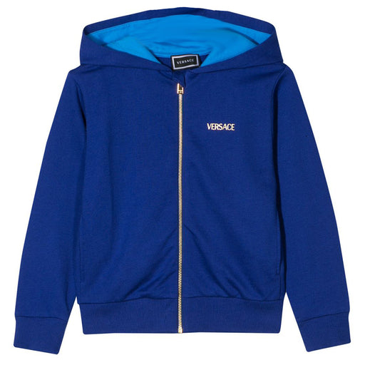 Boys Blue Medusa Zip-Up Hooded Top