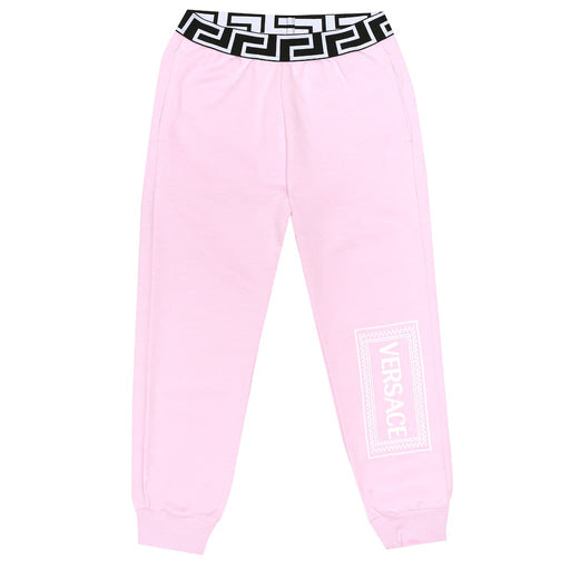 Versace Versace Girls Pink Cotton Joggers - Kids clothes online | BOYS & GIRLS ONLINE
