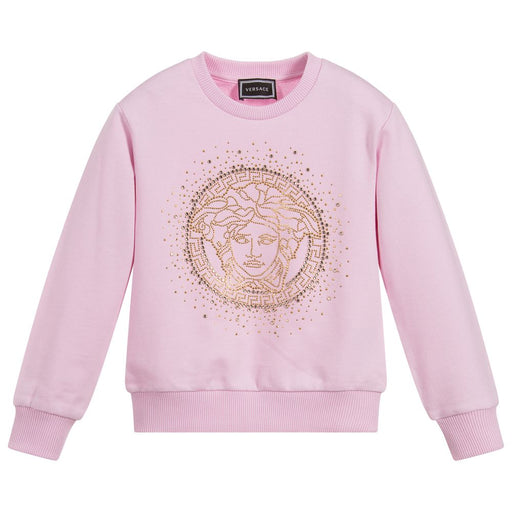 Girls Pink Medusa Sweatshirt