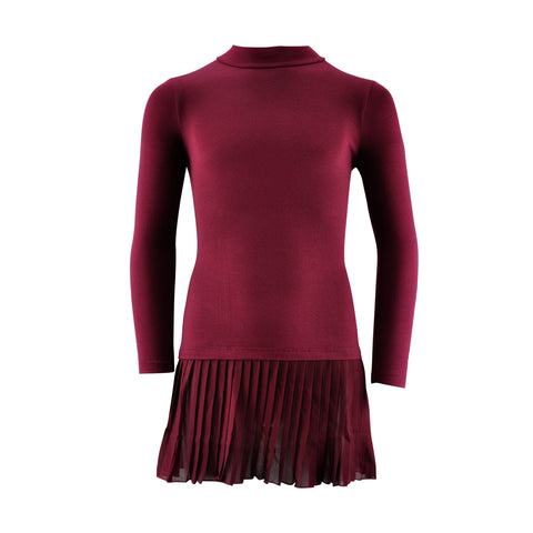 Bordeaux Long-Sleeve Dress