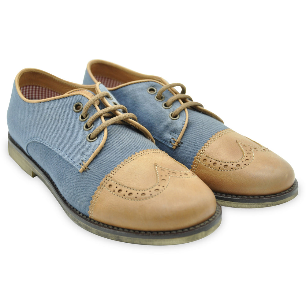 Walk Safari Blue and Brown Classic Style Brogues at BOYS & GIRLS ONLINE