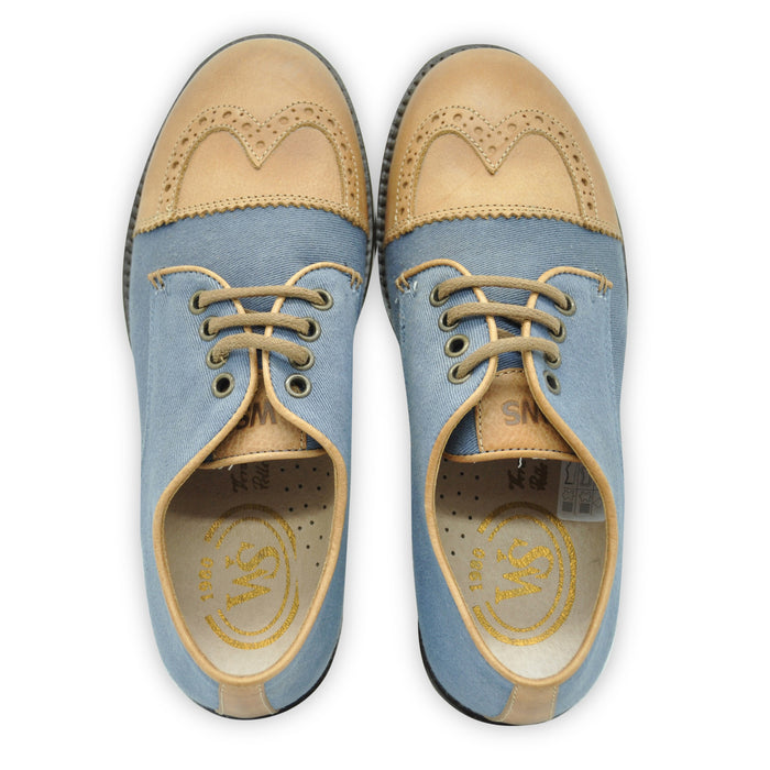 Walk Safari - Blue and Brown Classic Style Brogues - Kids clothing at BOYS & GIRLS ONLINE