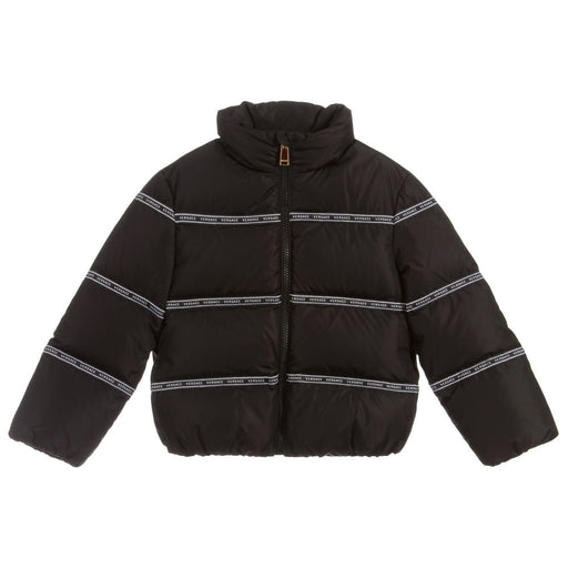 Young Versace - Black Down Padded Puffer Jacket - Kids clothing at BOYS & GIRLS ONLINE