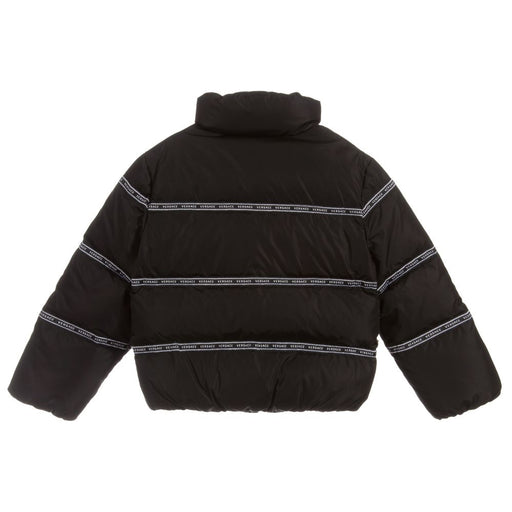 Versace Black Down Padded Puffer Jacket - Kids clothes online | BOYS & GIRLS ONLINE