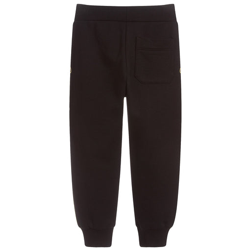 Versace Boys Black Cotton Medusa Logo Joggers - Kids clothes online | BOYS & GIRLS ONLINE