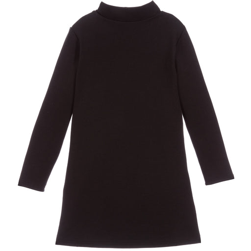 Girls Black Cotton Dress La Medusa