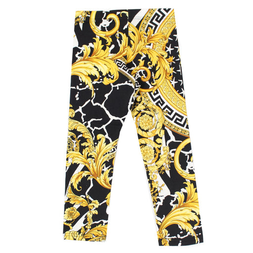 Young Versace - Girls Leggings with Barocco Print - Kids clothing at BOYS & GIRLS ONLINE