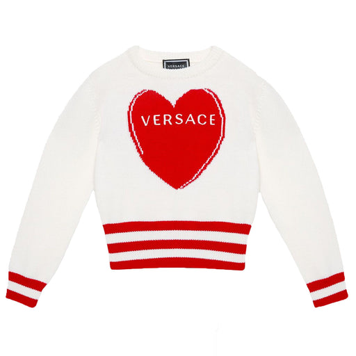 Young Versace - Love Versace Heart Sweater - Kids clothing at BOYS & GIRLS ONLINE