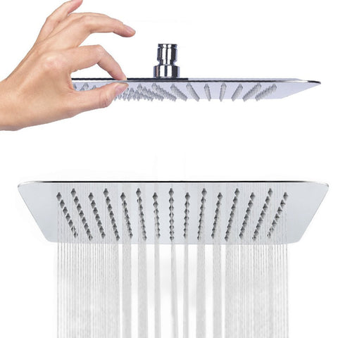 Stainless Steel Ultra Thin 6'' Square Shower Head