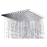 Rainfall Ultra Thin Stainless Steel Mirror-Finish Shower Head- 12 inch