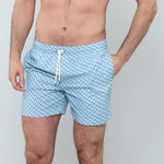 Caldelari Men Swimwear - Ralph the Flamingo Light Blue - Handmade in Italy