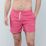 Caldelari Men Swimwear - Ralph the Flamingo Strawberry - Handmade in Italy
