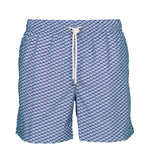 Caldelari Men Swimwear - Albert the Orca Light Blue - Handmade in Italy