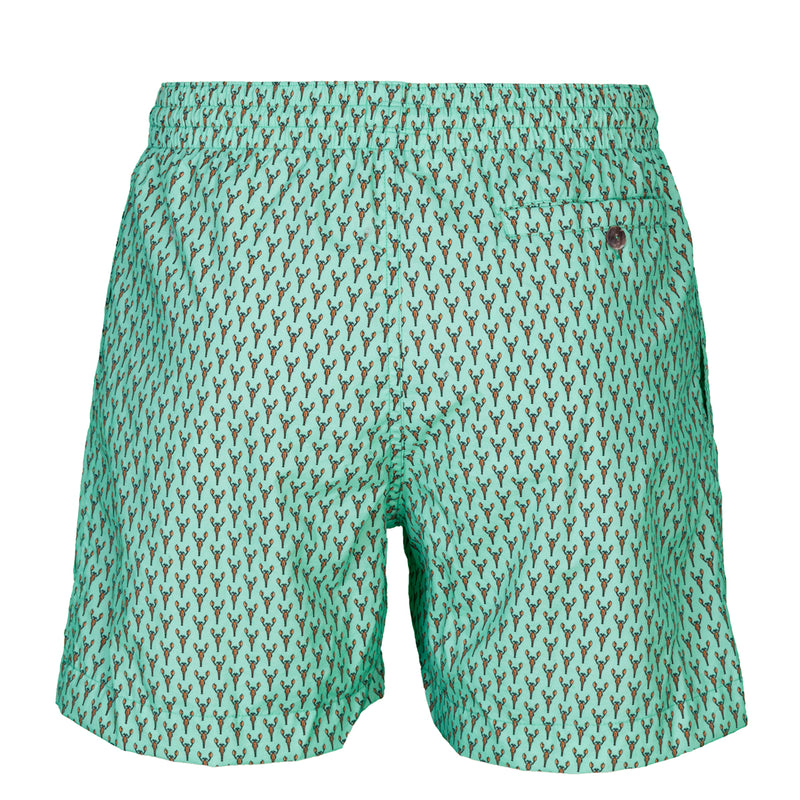 Caldelari Men Swimwear - Edward the Lobster Spring Green- Handmade in Italy