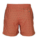 Caldelari Men Swimwear - George the Turtle Orange- Handmade in Italy